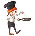 A simple sketch of a chef vector image