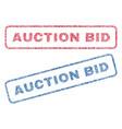 auction bid textile stamps