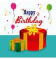 birthday design over white background vector image vector image