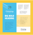 brain circuit business company poster template vector image vector image