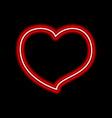 bright heart neon sign retro neon heart sign on vector image vector image