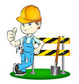 builder with tool vector image vector image