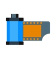 Camera vintage film roll cartridge vector image vector image