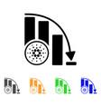 cardano fall down chart icon vector image vector image