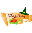 colorful banner for thanksgiving day vector image vector image