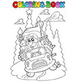 coloring book christmas topic 5 vector image