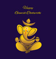 creative poster of golden color ganesh chaturthi vector image vector image