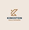 creative professional trendy monogram k logo vector image vector image