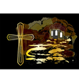 cross and church vector image vector image