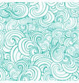 decorative ornamental turqiouse or blue waves vector image