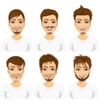 different fashionable male hipster hairstyles vector image