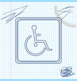 disabled handicap line sketch icon isolated on vector image vector image