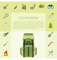 Ecotourism banner vector image vector image