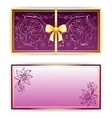 Exquisite template for greeting card invitation vector image vector image