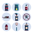 exterminator service flat icons set vector image