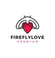 firefly love logo icon vector image vector image