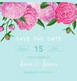 floral wedding invitation or congratulation card vector image