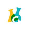 g letter lab laboratory glassware beaker logo icon