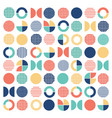 geometric colorful mixed circle seamless pattern vector image vector image