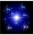 glowing rays and stars vector image vector image