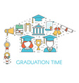 Graduation Time Lineart Concept vector image vector image