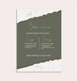 green wedding invitation greeting posters modern vector image vector image