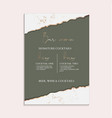 green wedding invitation greting posters modern vector image vector image
