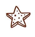 Hand Drawn 3D Star vector image