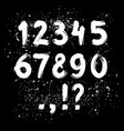hand drawn ink brush numbers vector image vector image