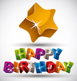 Happy birthday phrase vector image vector image