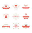 happy valentines day greetings cards labels vector image vector image