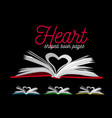 heart from book pages on vector image vector image