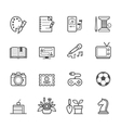 Hobbies icons vector image vector image