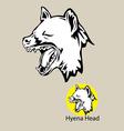 hyena head logo vector image vector image