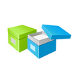 icon boxes vector image