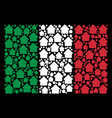 italy flag pattern of cabin icons vector image vector image