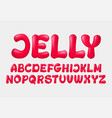 jelly cartoon alphabet vector image