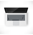 laptop top view vector image vector image