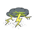 lightning bolt cartoon hand drawn image vector image