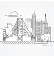 Linear of San Francisco USA Flat vector image vector image