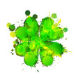 lucky clover leaf made colorful grunge splashes vector image