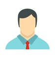 Male avatar with shirt and tie icon flat style vector image