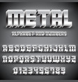 metal alphabet and numbers vector image vector image