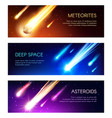 meteors and asteroids galaxy outer space vector image