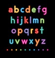 neon small letters vector image vector image
