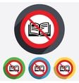 No Book sign icon Open book symbol vector image vector image