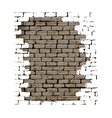 Old brick wall with plaster white background vector image vector image