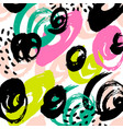 pattern with brush stripes and strokes vector image vector image