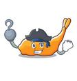 pirate tempura character cartoon style vector image