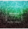Retro Background Hipster Triangles Bright Colors vector image vector image